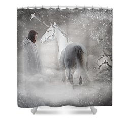 In Honor Of The Unicorn Shower Curtain