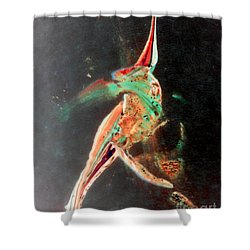 Shower Curtain featuring the painting In Jest by Jacqueline McReynolds