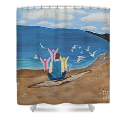 Shower Curtain featuring the painting In Meditation by Cheryl Bailey