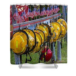 In Memory Of 19 Brave Firefighters  Shower Curtain