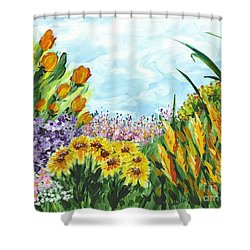 In My Garden Shower Curtain by Holly Carmichael