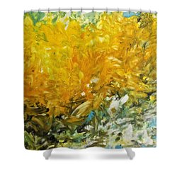 Shower Curtain featuring the painting In My Magic Garden by Joan Reese