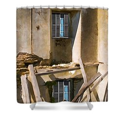 In Need Of Repair Shower Curtain by Liane Wright