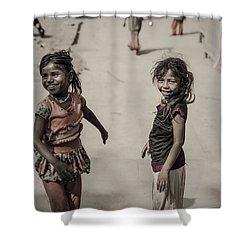 In Omkareshwar Shower Curtain by Valerie Rosen