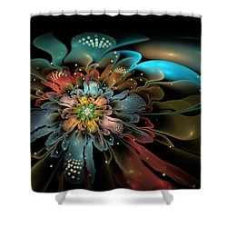 In Orbit Shower Curtain