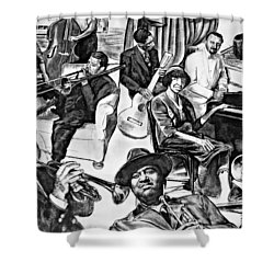 In Praise Of Jazz II Shower Curtain by Steve Harrington