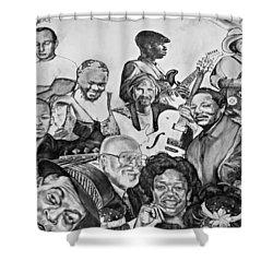 In Praise Of Jazz V Shower Curtain by Steve Harrington