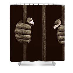 In Prison Shower Curtain by Chevy Fleet