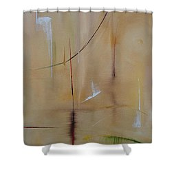Shower Curtain featuring the painting In Pursuit Of Youth by Judith Rhue