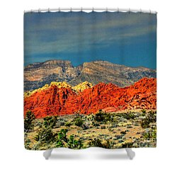 In Red Mountain 1 Shower Curtain