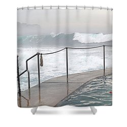 Shower Curtain featuring the photograph In Safe Waters by Evelyn Tambour