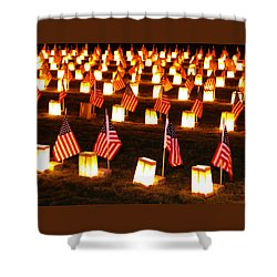 In Solemn Dedication - Gettysburg Illumination Remembrance Day 2012 - A Shower Curtain by Michael Mazaika