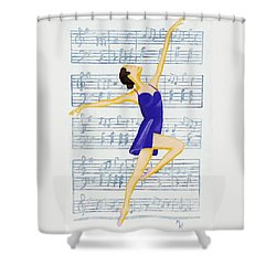 In Sync With The Music Shower Curtain
