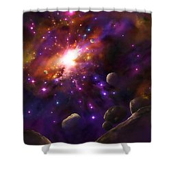 In The Beginning... Shower Curtain by Tamer and Cindy Elsharouni