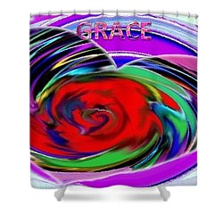 In The Box Shower Curtain by Catherine Lott