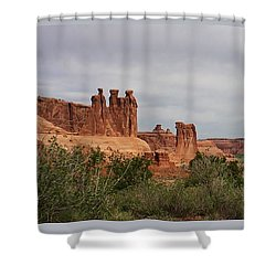 In The Canyon Shower Curtain by Bruce Bley