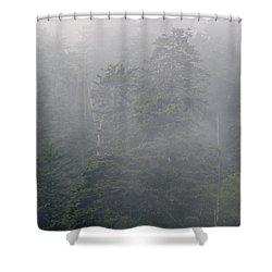 Shower Curtain featuring the photograph In The Clouds by Andy Crawford