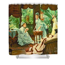 In The Conservatory  Shower Curtain by James Jacques Tissot