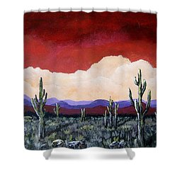 In The Distance Shower Curtain by Suzanne Theis