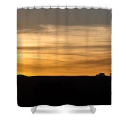 In The Evening I Rest Shower Curtain by CML Brown