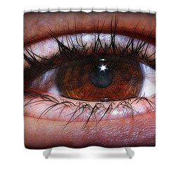 In The Eye Of The Beholder... Shower Curtain by Tammy Schneider