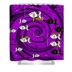 In The Eye Of The Hurricane Shower Curtain by Pepita Selles
