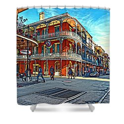 In The French Quarter Painted Shower Curtain by Steve Harrington