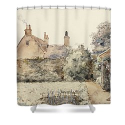 In The Garden Shower Curtain by Childe Hassam