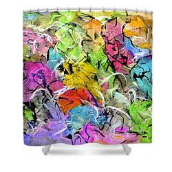 In The Garden Shower Curtain by Jim Whalen