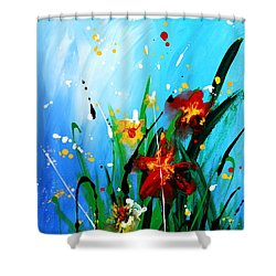 In The Garden Shower Curtain by Kume Bryant
