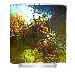 In The Garden Shower Curtain by Pamela Cooper