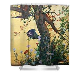 In The Garden Shower Curtain by Sorin Apostolescu