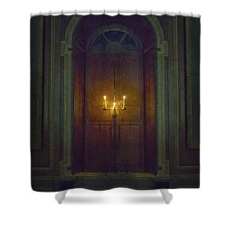 In The Great Hall Shower Curtain by Margie Hurwich