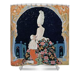 In The Grotto Shower Curtain by Georges Barbier