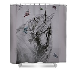 In The Heaven Shower Curtain by Melita Safran