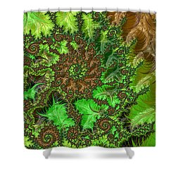 In The Jungle  Shower Curtain by Heidi Smith