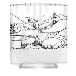 In The Land Of Brigadoon  Shower Curtain