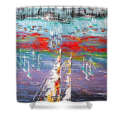 In The Lead - Sold Shower Curtain by George Riney