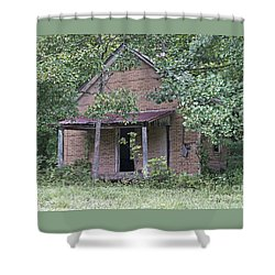 In The Middle Of Nowhere Shower Curtain by Ann Horn
