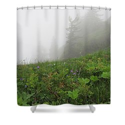 Shower Curtain featuring the photograph In The Mist - 1 by Pema Hou