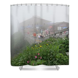 Shower Curtain featuring the photograph In The Mist by Pema Hou