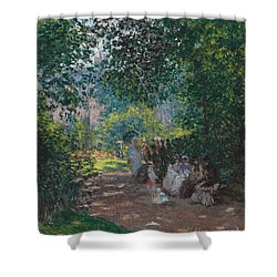 In The Park Monceau Shower Curtain by Cluade Monet