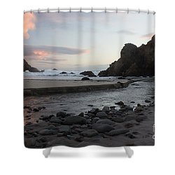 Shower Curtain featuring the photograph In The Pink by Suzanne Luft