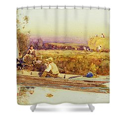 In The Punt Shower Curtain by Thomas James Lloyd