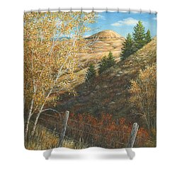 Belt Butte Autumn Shower Curtain