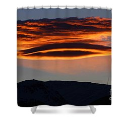 In The Spotlight Shower Curtain by Fiona Kennard