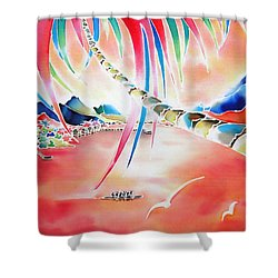 In The Sunset Shower Curtain