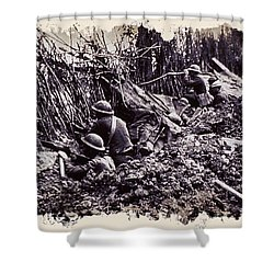 In The Trenches Shower Curtain by Daniel Hagerman