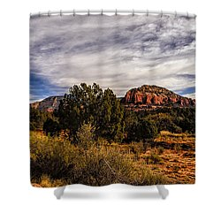 Shower Curtain featuring the photograph In The Valley Below by Mark Myhaver