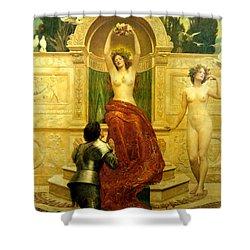 In The Venusberg Tannhauser Shower Curtain by John Collier